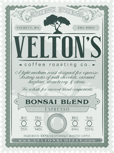 Bonsai Blend (medium roast - espresso)