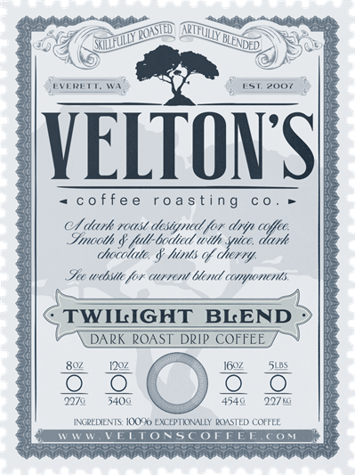 Twilight Blend (dark roast drip coffee)